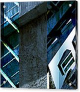 Merged - Tower Blues Acrylic Print by Jon Berry
