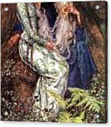 Merlin And Vivien Acrylic Print by Eleanor Fortescue Brickdale