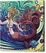 Mermaid Gargoyle Acrylic Print by Genevieve Esson