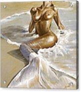 Mermaid Acrylic Print by Karina Llergo Salto