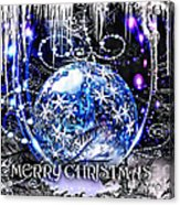 Merry Christmas Acrylic Print by Mo T