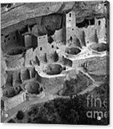 Mesa Verde Monochrome Acrylic Print by Bob Christopher
