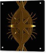 Metallic Balance Brass Acrylic Print by James Willoughby III