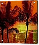 Metallic Sunset Acrylic Print by Athala Carole Bruckner