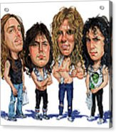 Metallica Acrylic Print by Art