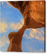 Metate Arch Sunset Acrylic Print by Dustin  LeFevre