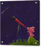 Meteor Shower Acrylic Print by Christy Beckwith