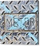 Meter Cover Acrylic Print by Tom Gowanlock