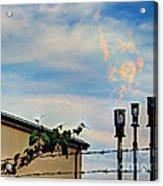Methane Flares Acrylic Print by MJ Olsen