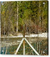 Methow River Springtime Acrylic Print by Omaste Witkowski