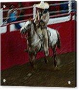 Mexican Cowboy July 4th Rodeo Chandler Arizona 1999 Acrylic Print by David Lee Guss