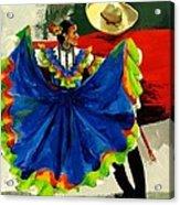 Mexican Dancers Acrylic Print by Elisabeta Hermann