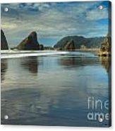 Meyers Creek Sea Stack Blues Acrylic Print by Adam Jewell