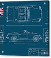 Mgb Mk.2 Roadster Acrylic Print by Douglas Switzer