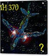 Mh 370 Mystery Acrylic Print by David Lee Thompson