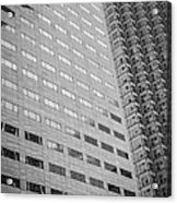 Miami Architecture Detail 1 - Black And White Acrylic Print by Ian Monk