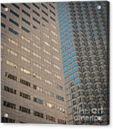 Miami Architecture Detail 2 - Square Crop Acrylic Print by Ian Monk