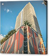 Miami Downtown Buildings - Miami - Florida Acrylic Print by Ian Monk