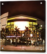 Miami Heat Aa Arena Acrylic Print by Andres LaBrada