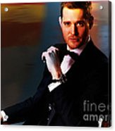 Michael Buble Acrylic Print by Marvin Blaine