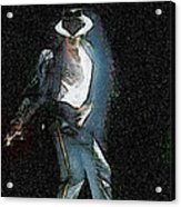 Michael Jackson Acrylic Print by Georgi Dimitrov