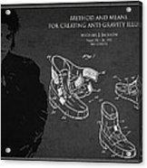 Michael Jackson Patent Acrylic Print by Aged Pixel