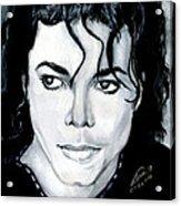 Michael Jackson Portrait Acrylic Print by Alban Dizdari