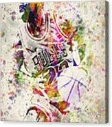 Michael Jordan Acrylic Print by Aged Pixel