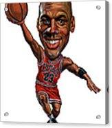 Michael Jordan Acrylic Print by Art