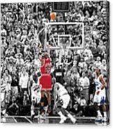 Michael Jordan Buzzer Beater Acrylic Print by Brian Reaves