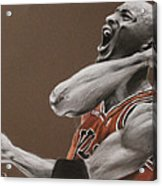 Michael Jordan - Chicago Bulls Acrylic Print by Prashant Shah