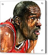 Michael Jordan Early Days Acrylic Print by Michael  Pattison