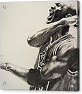 Michael Jordan Acrylic Print by Jake Stapleton
