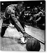 Michael Jordan Reaches For The Ball Acrylic Print by Retro Images Archive