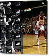 Michael Jordan Shoes Acrylic Print by Joe Hamilton
