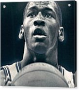 Michael Jordan Shots Free Throw Acrylic Print by Retro Images Archive