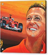 Michael Schumacher 2 Acrylic Print by Paul Meijering