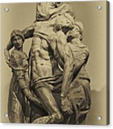 Michelangelo's Florence Pieta Acrylic Print by Melany Sarafis