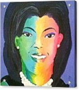 Michelle Obama Color Effect Acrylic Print by Kendya Battle