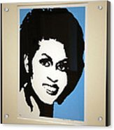Michelle Obama Acrylic Print by Cora Wandel