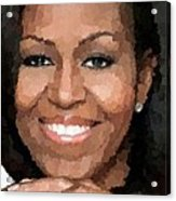 Michelle Obama Acrylic Print by Samuel Majcen