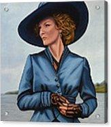 Michelle Pfeiffer Acrylic Print by Paul Meijering