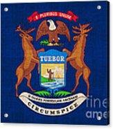 Michigan State Flag Acrylic Print by Pixel Chimp