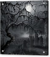 Midnight In The Graveyard  Acrylic Print by James Christopher Hill