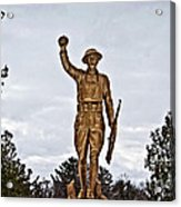 Military Soldier Memorial Acrylic Print by Ms Judi