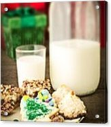 Milk And Cookies Acrylic Print by Edward Fielding