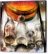 Milk Bottles In Dairy Case Acrylic Print by Susan Savad