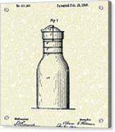 Milk Jar 1890 Patent Art Acrylic Print by Prior Art Design