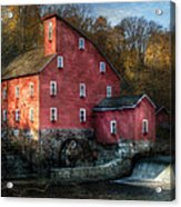 Mill - Clinton Nj - The Old Mill Acrylic Print by Mike Savad