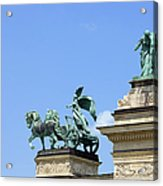 Millennium Monument In Budapest Acrylic Print by Artur Bogacki